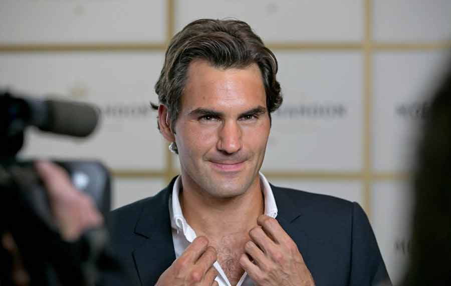 Moet Chandon Party with Roger Federer